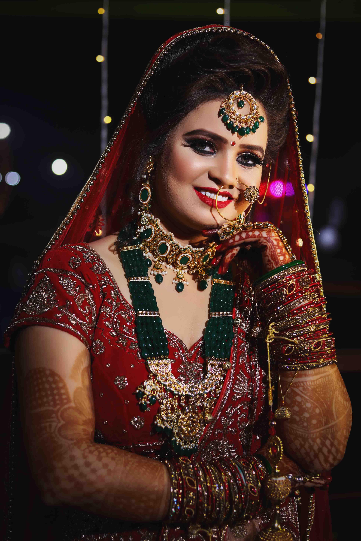 indian bridal photo shoot in delhi: dulhan makeup photos | photoportray